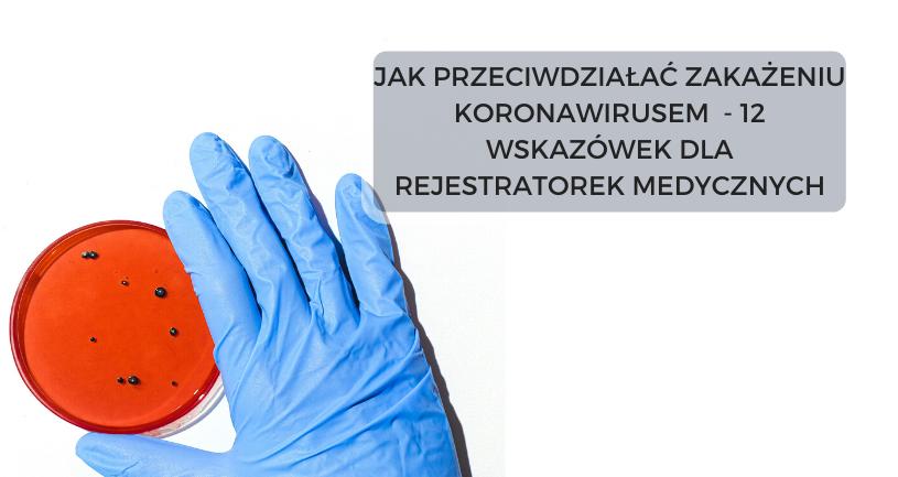 praca rejestratorki medycznej a koronawirus